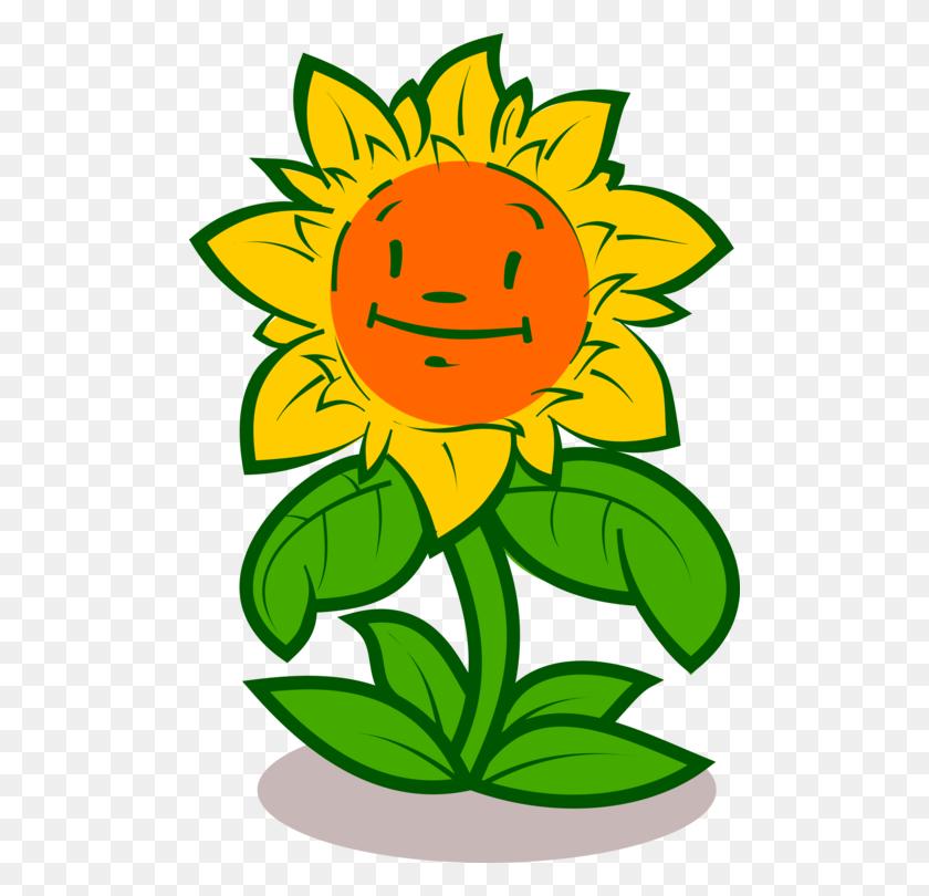 Sun Flower Cartoon Drawing - Plants Vs Zombies Clipart