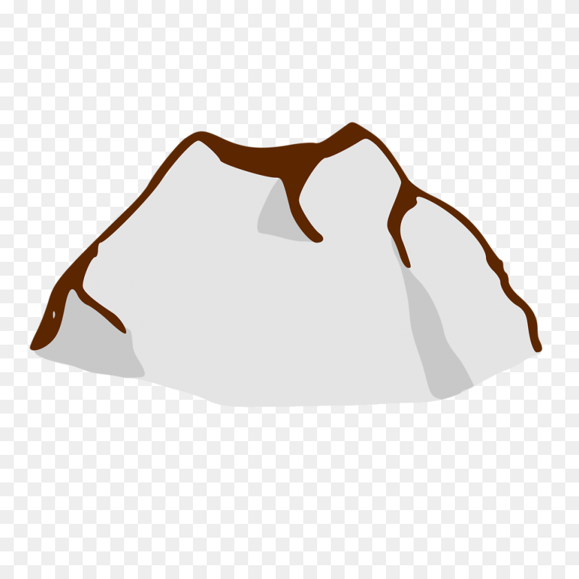 Sun Rays Mountain Clip Art - Mountains Clipart PNG