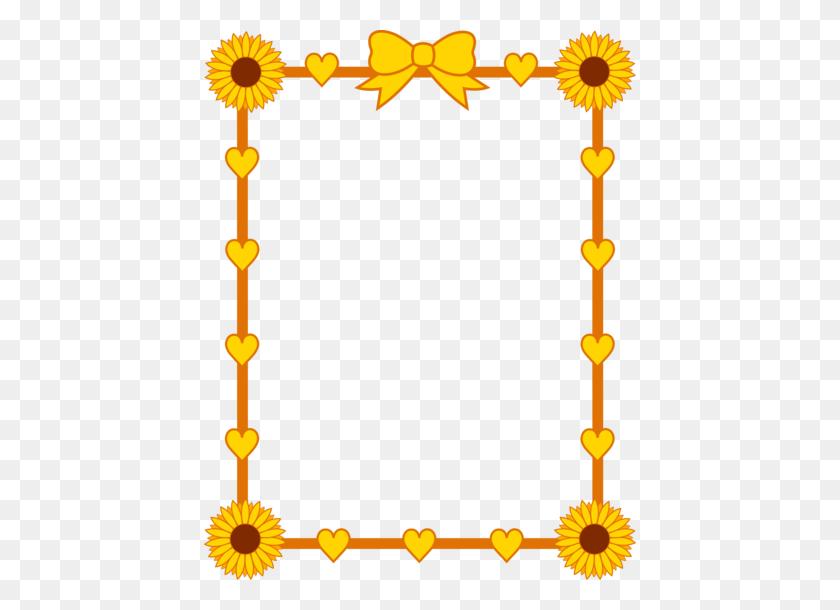 Sunflower Border Clip Art Cute Sunflower Border Frame - Rake Clipart