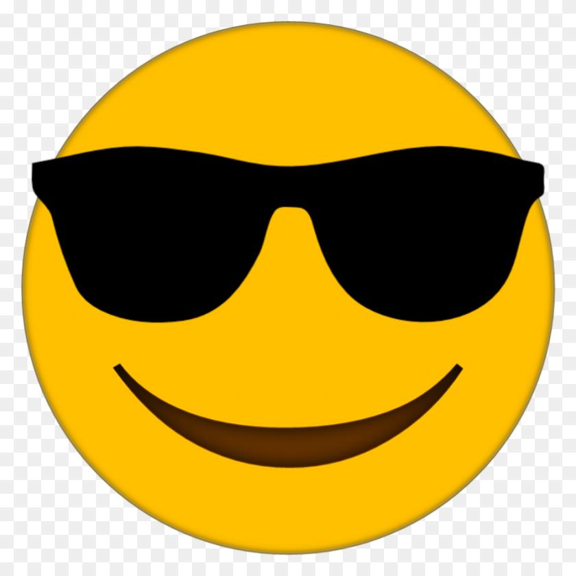 Sunglasses Emoji Clipart Look At Sunglasses Emoji Clip Art - Sunglasses Clipart No Background