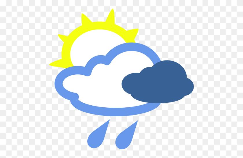 Sunny And Rainy Day Weather Symbol Vector Image - Rainy Day Clipart