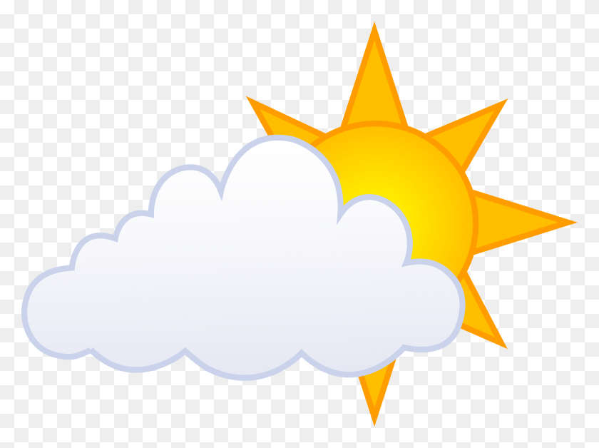 Sunny Clipart Partly Cloudy - Partly Sunny Clipart