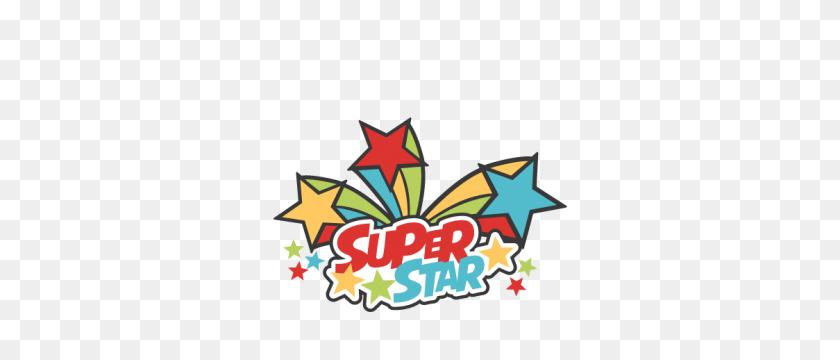 Super Star Title Cutting Scrapbook Title School - Super Mom Clipart