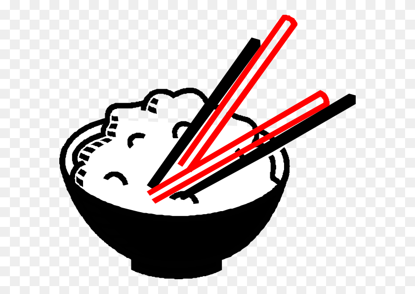 Superimp Black Red White Rice Bowl Clip Art - Rice Bowl Clipart