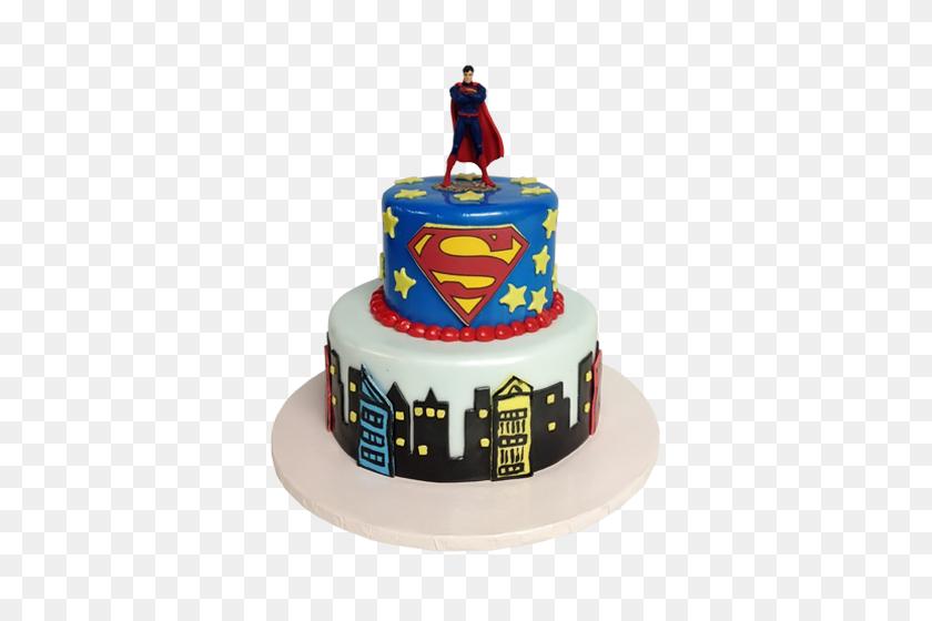 Superman Cake Png Png Image - Birthday Cake PNG
