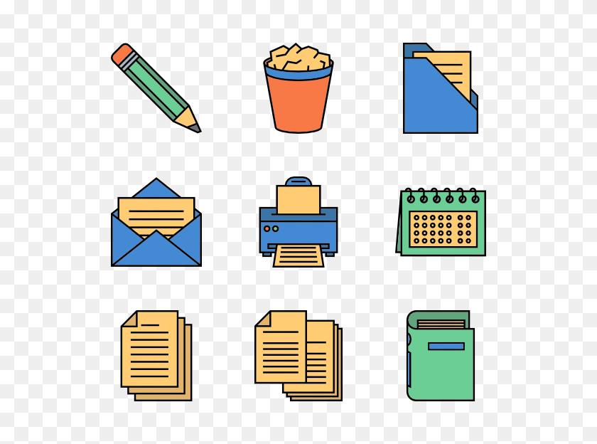 600x564 Supply Icon Packs - Art Supplies PNG