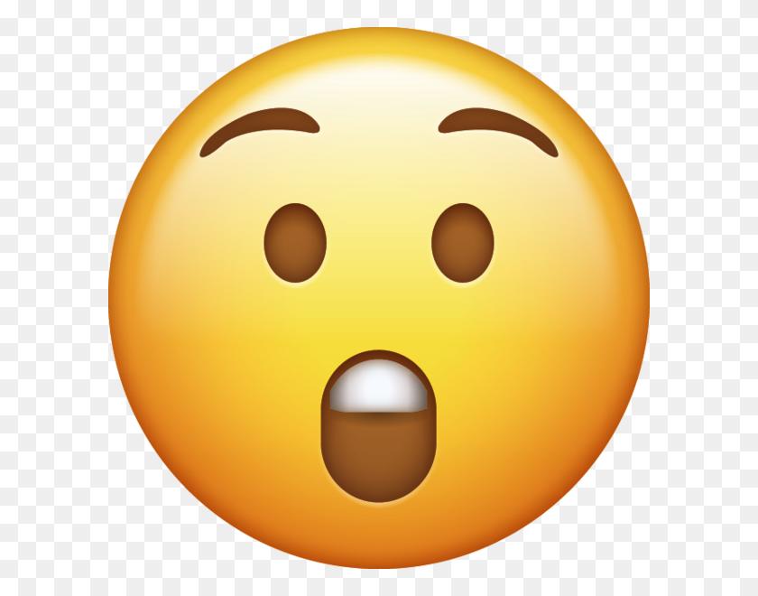 Surprised Emoji - Shocked Emoji PNG