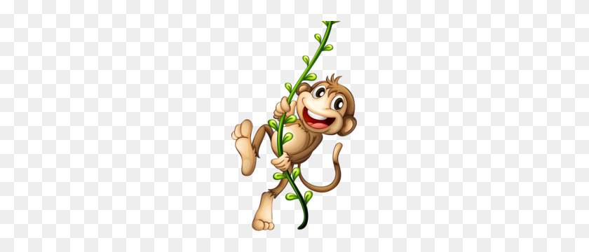 Swinging Monkey Monkeys Monkey, Clip Art, Cartoon - Swinging Monkey Clipart
