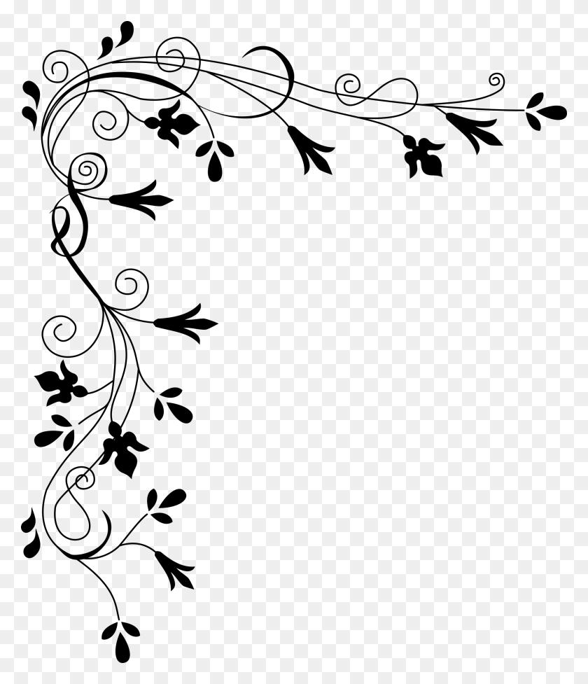 Swirl Clipart Black And White, Swirl Black And White Transparent - Swirl Design Clipart