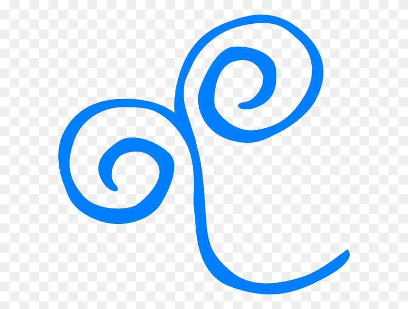 Swirls Clipart Simple Blue - Simple Swirl Clipart