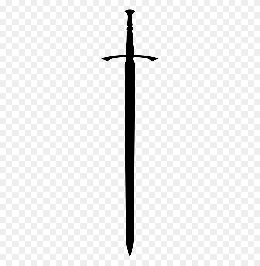 187x800 Sword Free Stock Clipart - Longsword Clipart