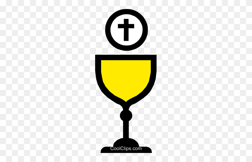 Symbol Of A Chalice With Host Royalty Free Vector Clip Art - Chalice And Host Clipart