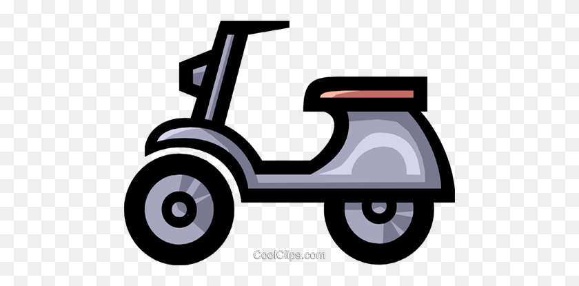 480x355 Symbol Of A Motor Scooter Royalty Free Vector Clip Art - Moped Clipart