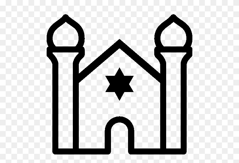 512x512 Synagogue Clip Art Free Cliparts - Synagogue Clipart