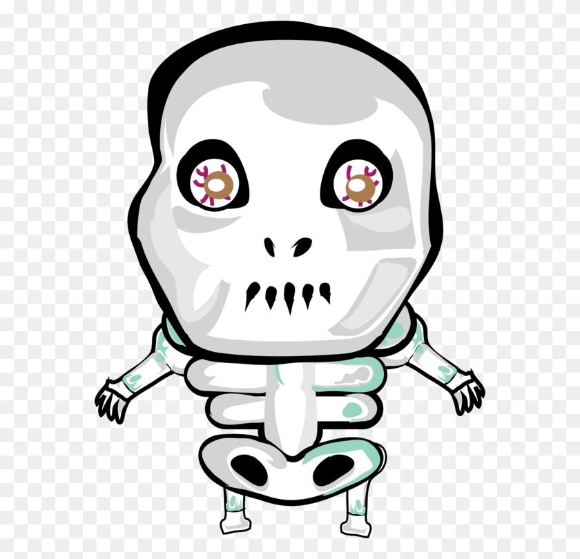 T Shirt Skeleton Skull Halloween - Skeleton Clipart