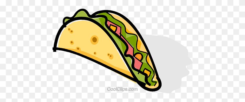 480x292 Taco Royalty Free Vector Clip Art Illustration - Taco Tuesday Clipart