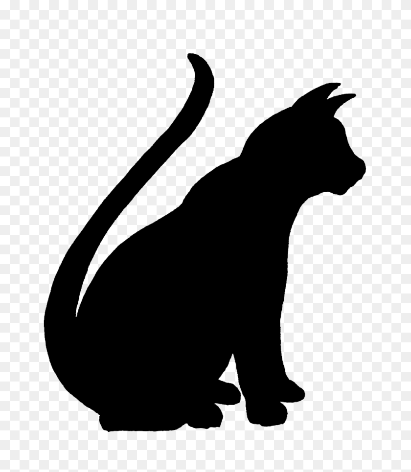 1004x1165 Tail Clipart Cat Silhouette - Tail Clipart
