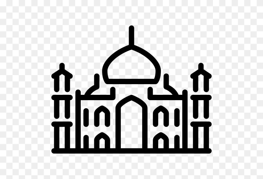 512x512 Taj Mahal Png Icon - Taj Mahal Clipart