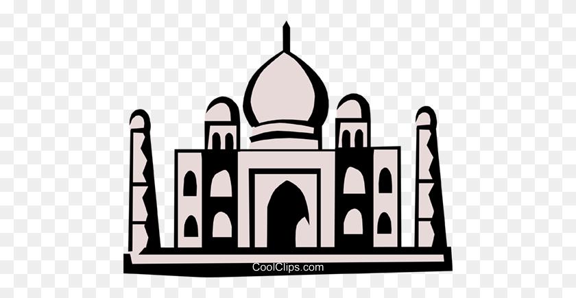 480x375 Taj Mahal Royalty Free Vector Clip Art Illustration - Taj Mahal Clipart
