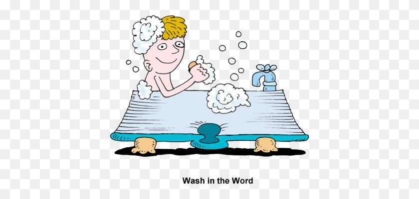400x340 Taking Bath Clipart - Take A Bow Clipart