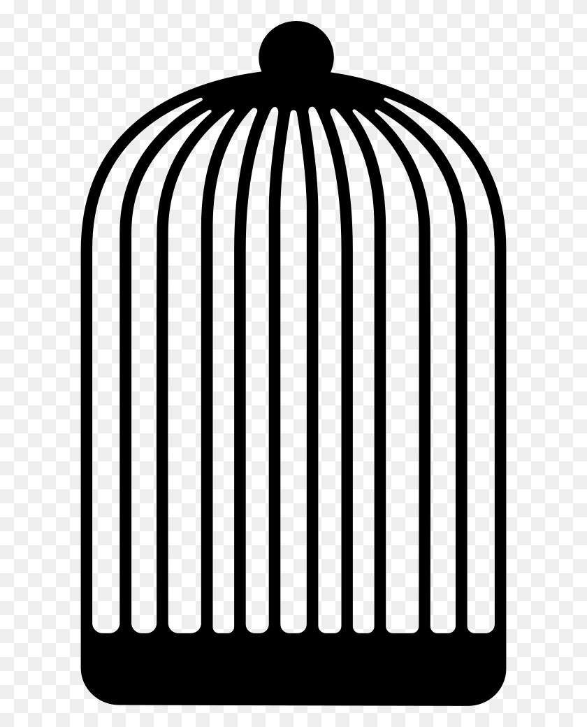 Tall And Empty Bird Cage Png Icon Free Download - Bird Cage PNG