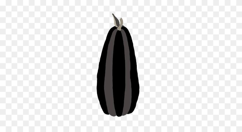 400x400 Tall Black Color Block Designer Harvest Pumpkin Halloween Autumn - Pumpkin Clipart Free Black And White