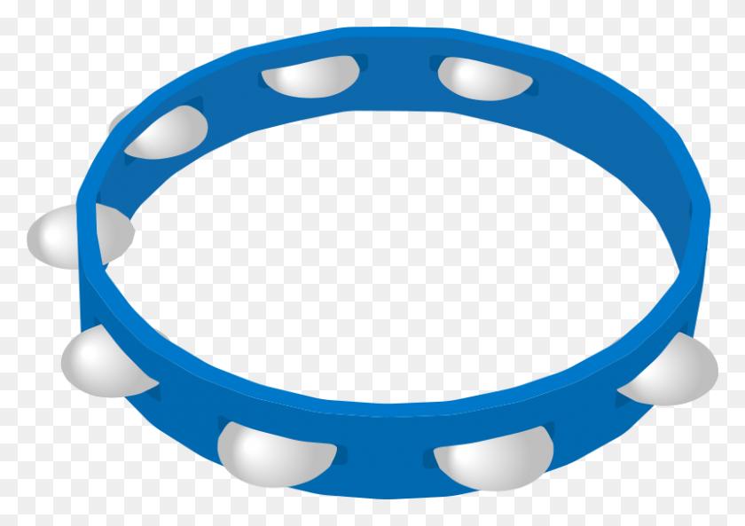 Tambourine Musical Instrument Clip Art - Dog Collar Clipart