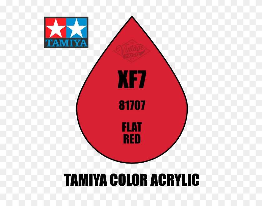 Tamiya Mini Xf Flat Red Acrylic Paint - Red Paint PNG