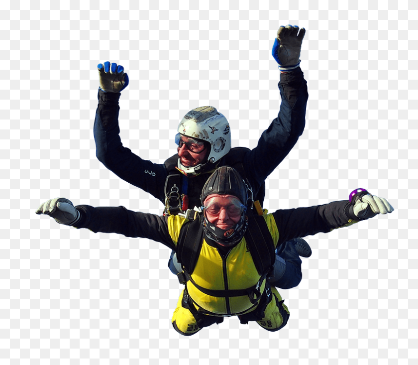 Tandem Parachute Jumpers Transparent Png - Parachute PNG