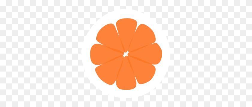 297x299 Tangerine Sections Clip Art - Tangerine Clipart