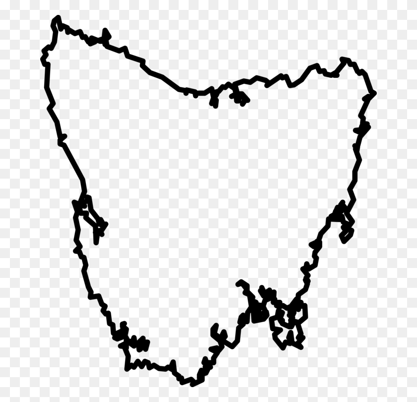 Tasmania Blank Map World Map Outline Of Geography - Geography Clipart
