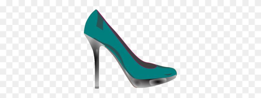 Teal Clipart High Heel - High Heel Shoe Clipart