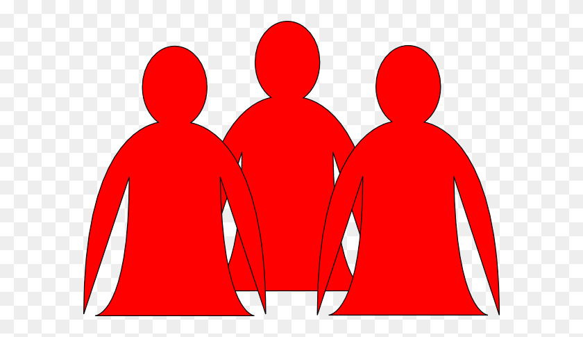 Team Of People Clipart Red - Team Clipart