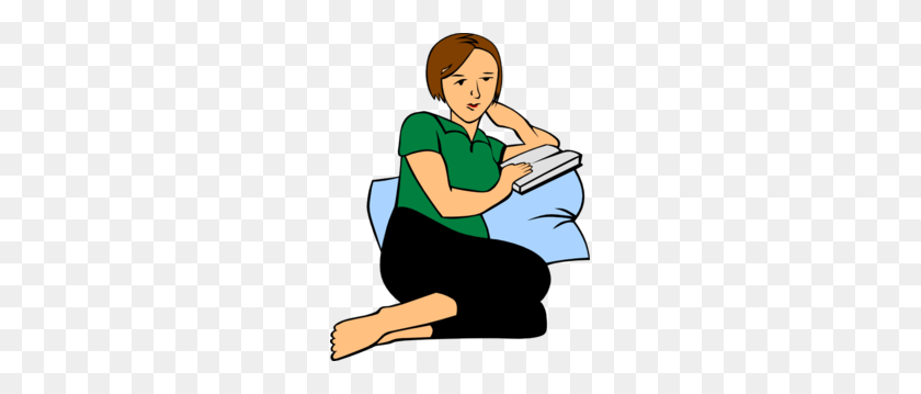 Teen Girl Reading A Book Clipart, Clipart Of A Caucasian Teen Girl - Reading Book Clip Art