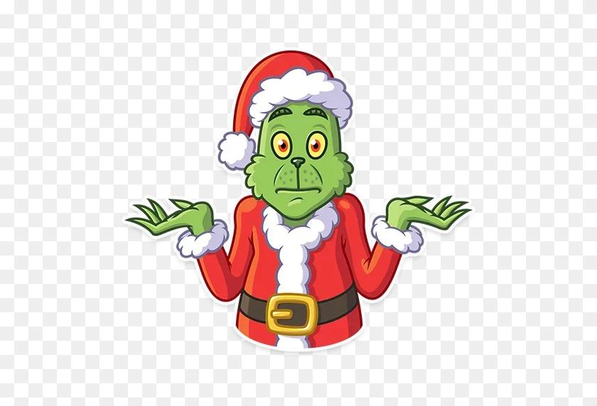 Telegram Grinch Sticker Christmas Tree Clip Art - Free Grinch Clip Art