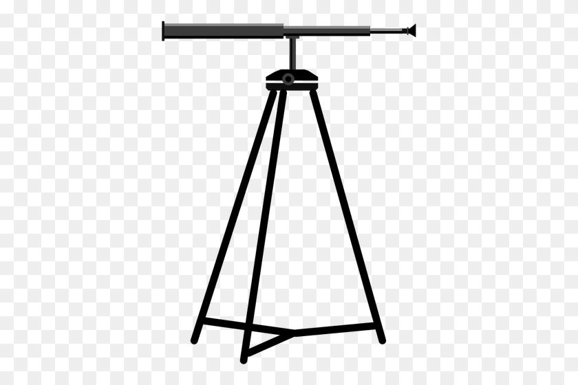 Telescope On A Tripod Vector Image - Tripod Clipart
