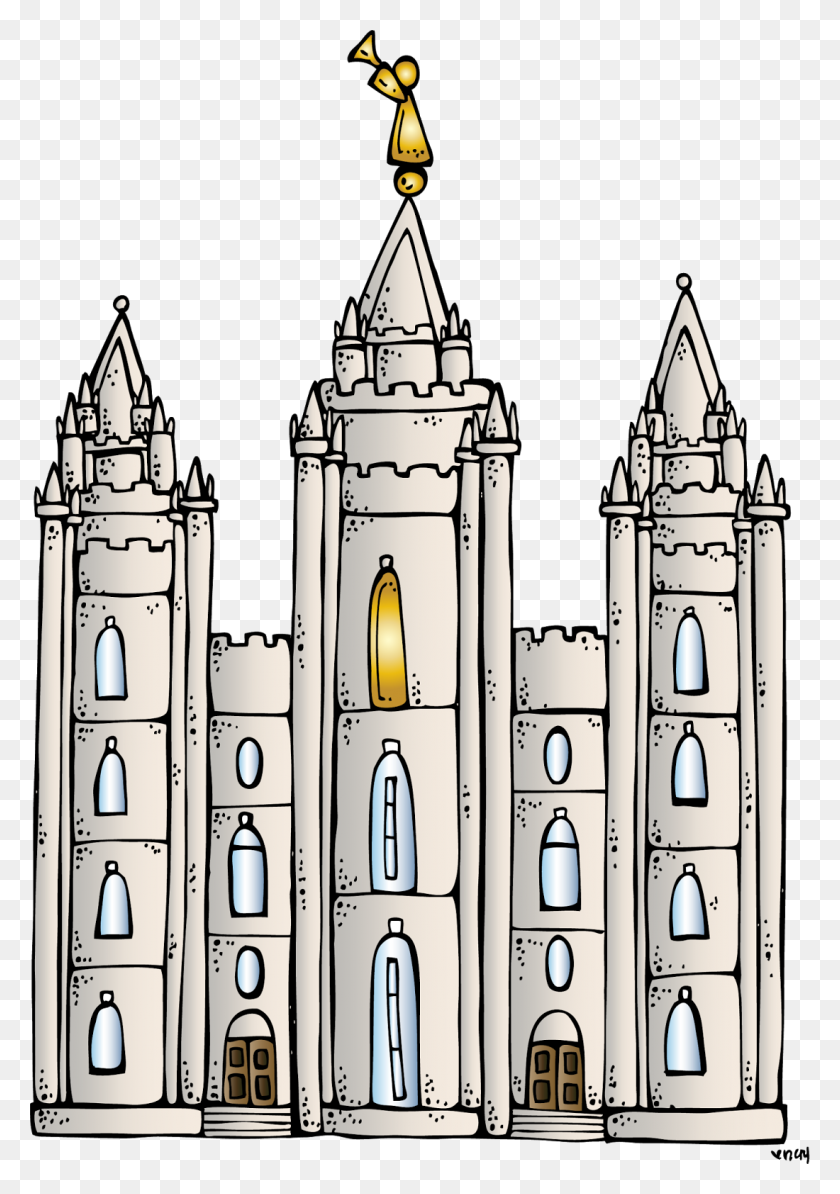 Related For Lds Temple Clipart Free - Black And White Salt Lake Temple |  Transparent PNG Download #707158 - Vippng
