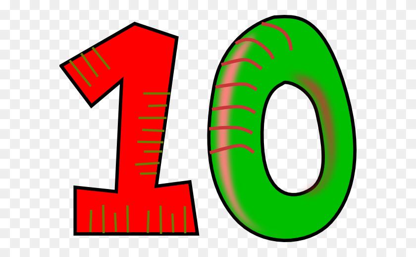 Ten Red Green Clip Art - Ten Clipart