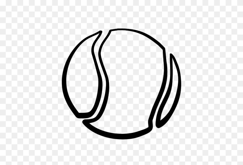 Tennis Ball Tennis Black And White Clipart Kid - Tennis Ball Clipart Black And White