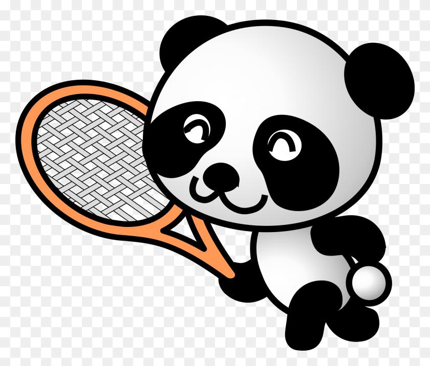 Tennis Panda Icons Png - Pandas PNG