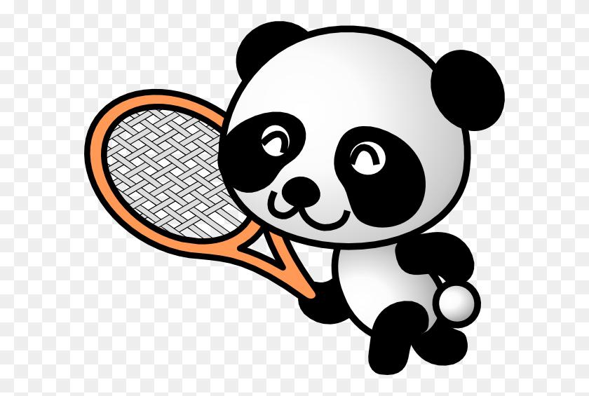 Tennis Panda Png, Clip Art For Web - Tennis Net Clipart