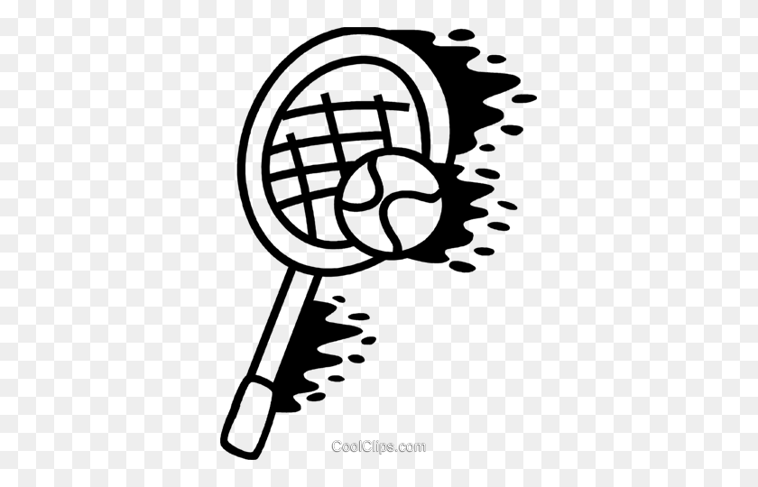 Tennis Racket And Tennis Ball Royalty Free Vector Clip Art - Tennis Racket And Ball Clipart