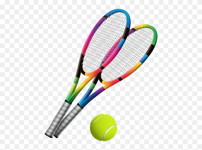 Tennis Rackets And Ball Clip Art Png - Racket Clipart