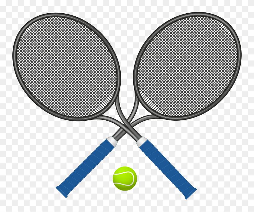 Tennis Rackets With Ball Png Clipart - Tennis Ball Clip Art