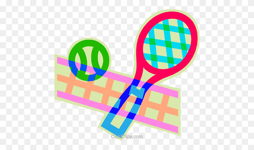 Tennis Racquet, Tennis Ball, Tennis Nets Royalty Free Vector Clip - Tennis Net Clipart