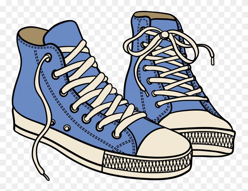 Tennis Shoe Top Shoe Clip Art Free Clipart Image - Winged Shoe Clip Art