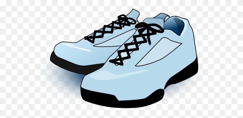 Tennis Shoes Clip Art Free Vector - Men Running Clipart