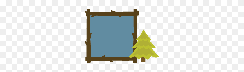 Tent Clipart Border - Pine Tree Border Clipart