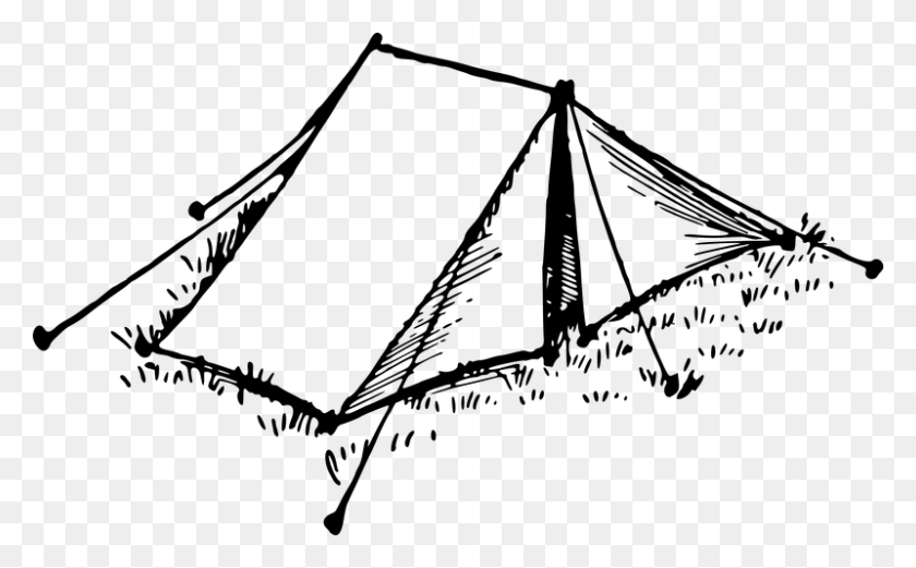 Tent Drawing Computer Icons Clip Art - Camping Tent Clipart Black And White