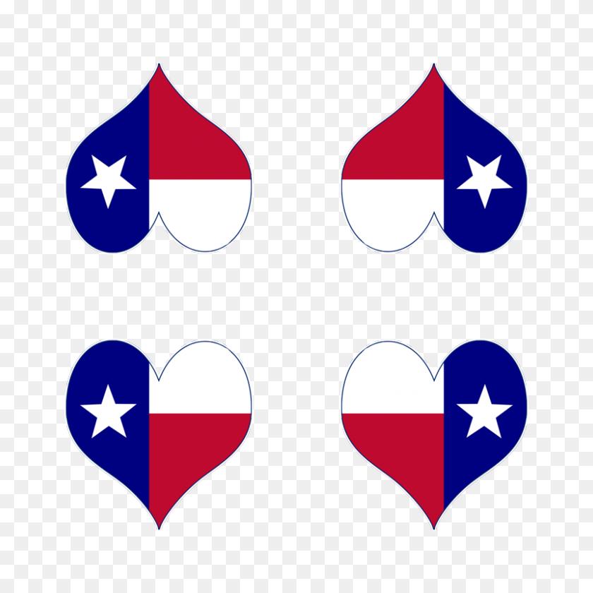 Texas Map Heart Giftwrap - Texas Flag Clip Art